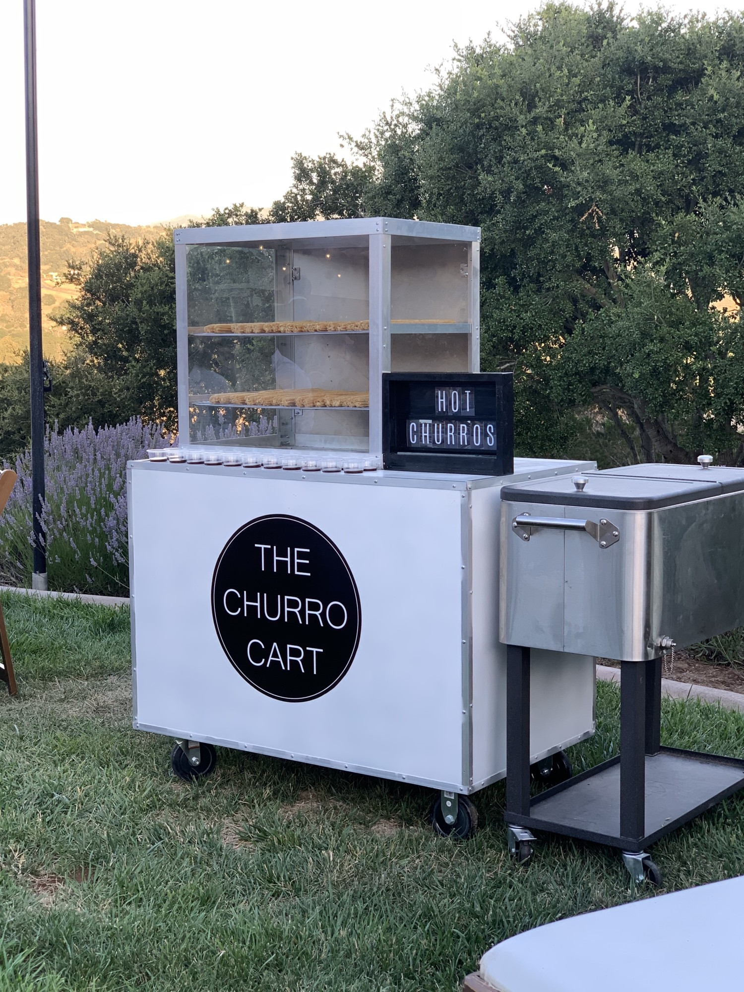churro cart wedding
